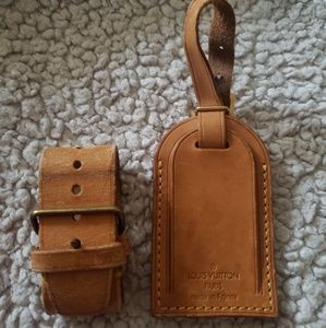 Louis Vuitton luggage tag and belt